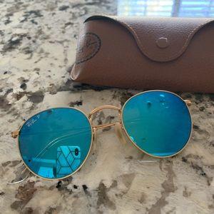 Polarized ray ban round sunglasses